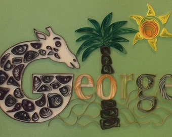 Quilling - Custom Name Wall Hanging, George