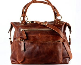 Brown Leather Bag Purse