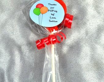 Balloon Party Favor Crayons on Sticks, 20 Balloon Crayons, 20 Balloon Stickers, Kids Party Favors, Crayons.