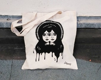 Tote bag shining twins, tote bag, cotton tote bag
