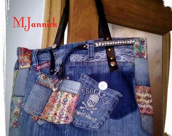 Denim bag made with recycled jeans