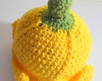 Banana Hat PDF Crochet Pattern - Newborn to 12 months INSTANT DOWNLOAD