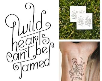 Wild Hearts - temporary tattoo (Set of 2)