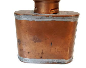 """vintage french advertising copper flask """"SNCF"""""""