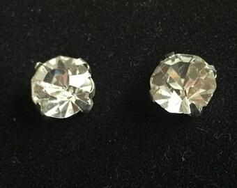 Restyled Rhinestone Post Earrings