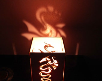 Game of Thrones  Dragons Wooden Tea Light Lantern Candle Holder