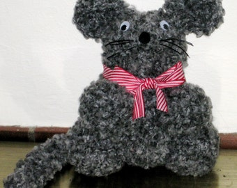 Mouse, Stuffed Toy, Handmade, Named Maddie