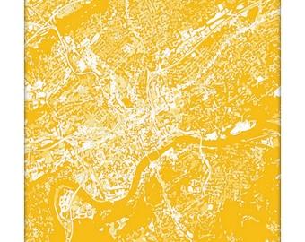 Knoxville Cityscape Art Print / UT University of Tennessee Vols Grad Gift Dorm Decor / 8x10 / Choose your color
