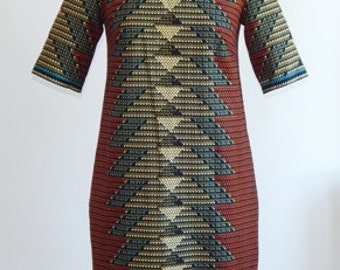 African Print Midi Dress