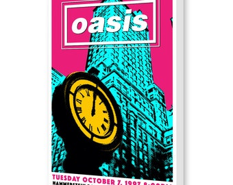 Oasis - New York City - Concert Poster