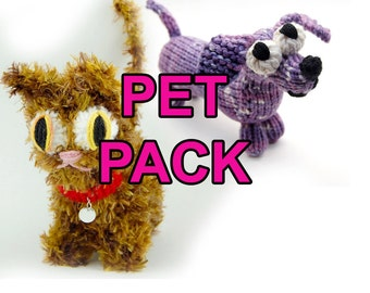 Pet Pack Amigurumi Dog and Cat Plush Toy Pattern Instant Download PDF