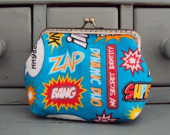 Comic book purse,  Superheroes purse