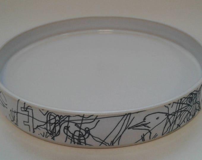 Ceramic plate by Gosia Wlodarczak in collaboration with Maria Lieberman