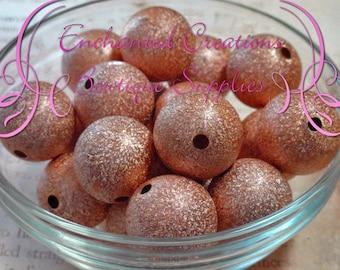 20mm Bronze Stardust Acylic Beads Qty 10