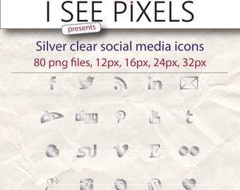 Silver Social Media Icons, Simple Social Media Icons, Social Media Icons. Social Media Icons Set, Blog social media gold