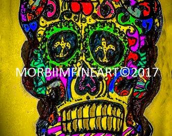 Yellow Sugar Skull by Omni Dulin