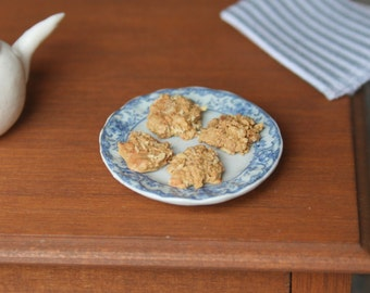 dollhouse miniature food, Anzac biscuits (cookies), 1:12 scale