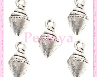 Set of 15 charms silver ice REF1394X3