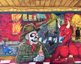 Painting, Folk Art, Wall Decor, Wall Hanging, Art &Collectibles , David Roach Art