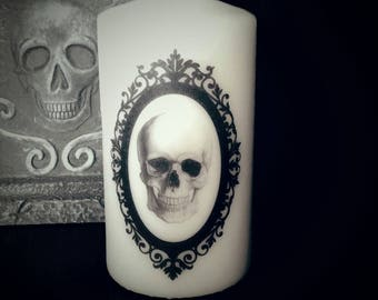 Skull Large Pillar Candle