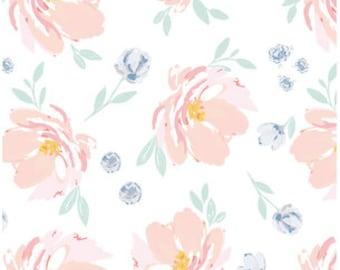 Spickzettel - Floral Baby Bettwäsche /Peony Krippe Blatt /Bloom Alma Mini Krippe /Hand gemalt wechselnden Kissen-Abdeckungen Babiease Baby Bettwäsche ausgestattet