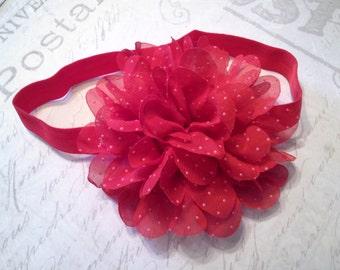 baby headband, baby girl headband, valentines headband, red headband, wedding headband, flower headband, vintage headband, wedding headband