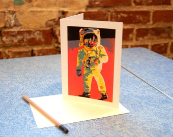 Astronaut Blank Greeting Card