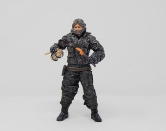 The Thing - R.J. MacReady - 1982 - Custom Made Figure - OOAK - One of a Kind Action Figure Toy - Horror Movie