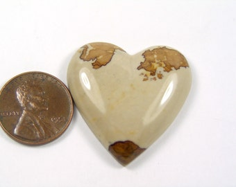 Natural Picture Jasper Heart Cabochon - 263