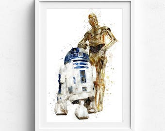 Star wars art, star wars art prints, star wars wall art, art of star wars, star wars canvas, star wars poster, r2d2 poster, star wars r2d2