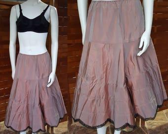 1950s Iridescent Sharkskin Taffeta Petticoat