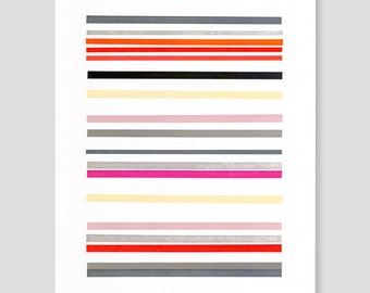 Letterpress Stripes Print (Version B)