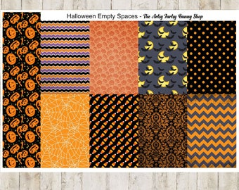 Halloween empty spaces for classic happy planner