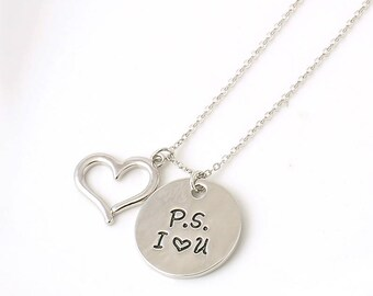 Jewelry - Fashion - Gift -  P.S. I Love You Necklace Pendant