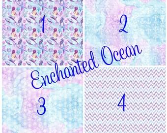 Pattern Vinyl, Enchanted Ocean, HTV, Mermaids, Adhesive, Outdoor 651 Vinyl, Heat Transfer Vinyl, Iron On Vinyl, Decals, Silhouette, Cricut