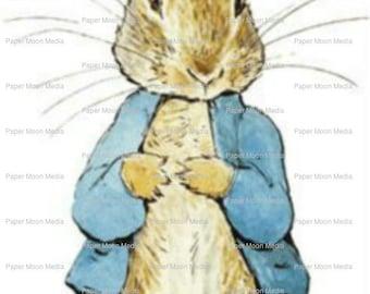 Set of 5 Beatrix Potter, Peter Rabbit,  Digital Collage Sheets, JPG Files Nursery Decor, Scrapbooking, Art, Altered Art, Instant Download