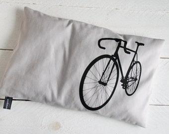 Cherry Bicycle, black on light grey