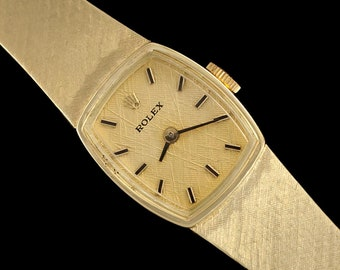 1970's Rolex Ladies Vintage Dress Bracelet Watch - 14K Gold