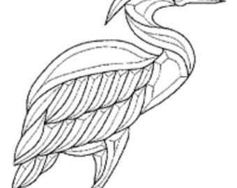 Stained Glass Supplies - Heron Egret Bevel Cluster