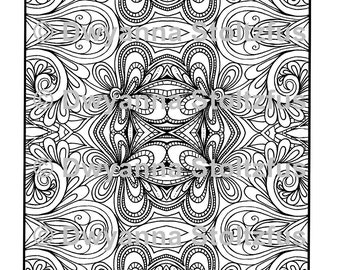 Mirrored Design 4 Coloring Page JPG