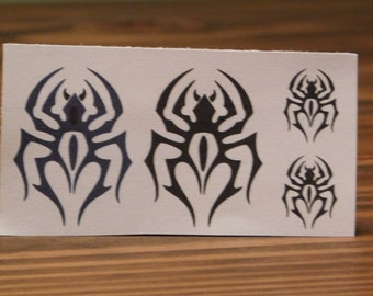 Temporary Tattoo/Tribal Spider Tattoo/Black Tattoo/Custom Tribal Tattoo/Miniature Tattoos