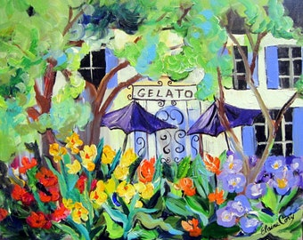 Original painting canvas art 16 x 20 Fine Art by Elaine Cory