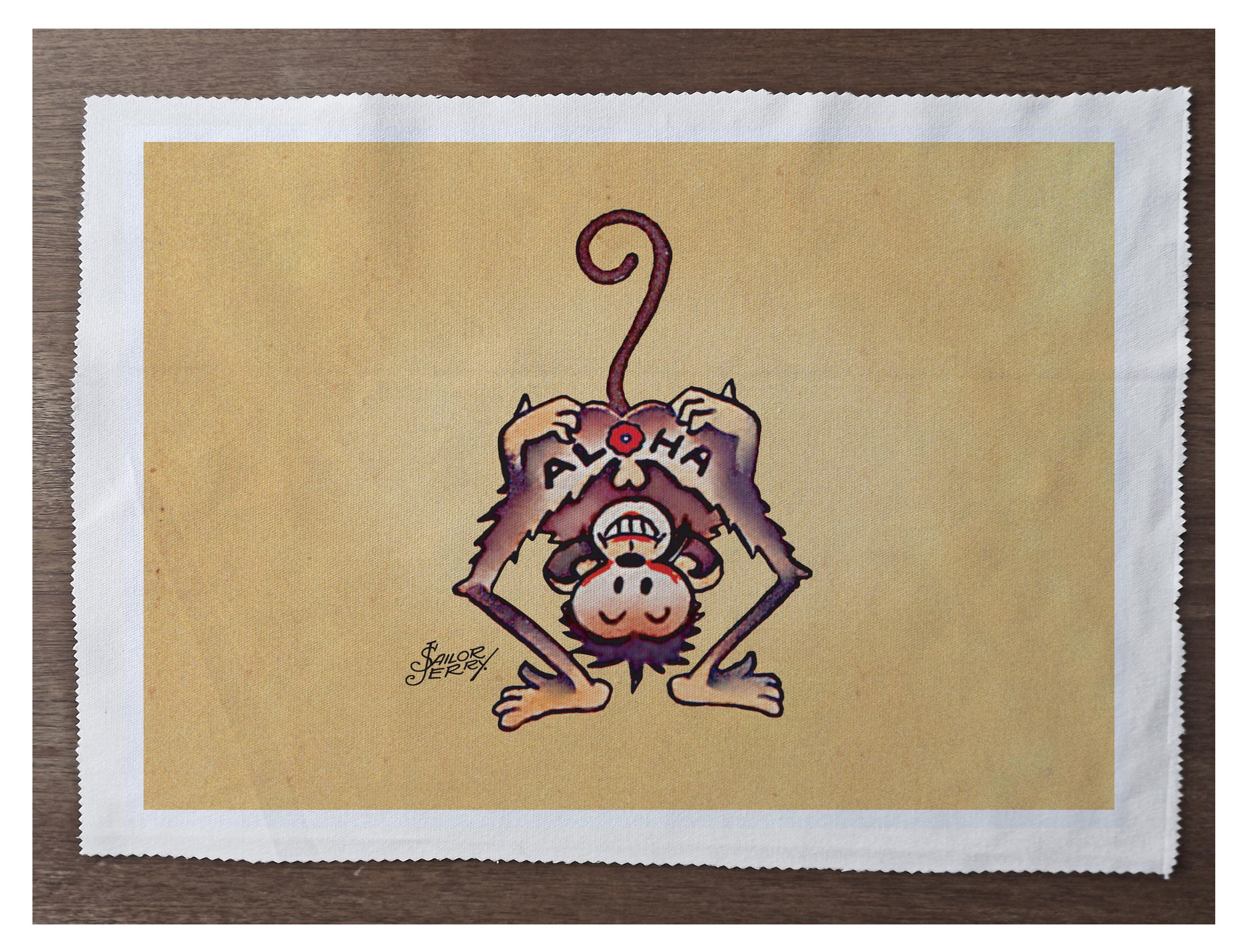 Aloha Monkey Sailor Jerry - - Sewing, Cushion, Upholstery, Craft ...