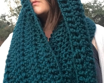 Turquoise Infinity Chunky Scarf
