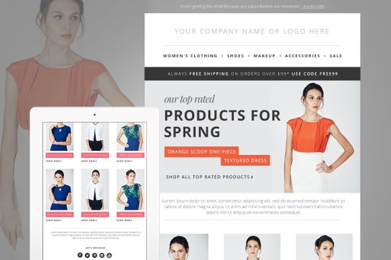 Fashion Email Newsletter Template PSD Ecommerce Newsletter - Mail newsletter template