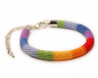 gay pride bracelet - rainbow bracelet - colorful bracelet - lgbt jewelry - colorful - christmas gift - rainbow jewelry - MudenoMade