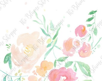 Floral Print | Watercolour Painting | Floral Wall Art | Watercolor Print | Floral Painting | Home Decor | Spring | Summer | Gifts For Her