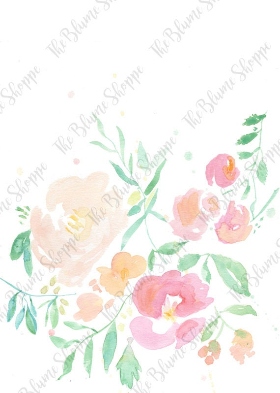 Loose Florals | watercolour