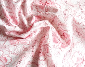 vintage pink floral fabric french floral fabric antique pink french fabric vintage floral cotton fabric 101