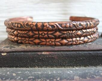 Stacking bracelets set, copper bracelets, Boho bracelets, gift for her, boho jewelry, stacker bracelets, bohemian jewelry, cuff bracelets